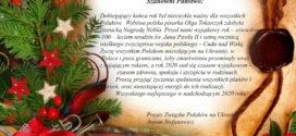 Życienia noworoczne Prezesa ZPU